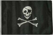 "12x18 12""x18"" Jolly Roger Pirate Eyepatch Sleeve Flag Boat Car Garden"