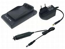 Ladegerät + Kfz-Ladekabel für Canon BP-711 BP-714 BP-722 BP-726, 1 Jahr Garantie
