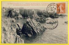 cpa 44 - LE POULIGUEN en 1910 Chasseur de Mouettes Pointe des KORRIGANS Grotte