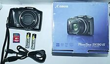 Canon PowerShot SX130 IS 12.1MP Digital Camera - Black + 4 GB Memory Card