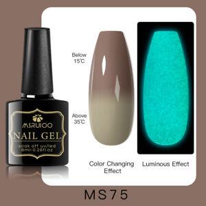 MSRUIOO Luminous Color-Changing UV Gel Nail Polish Soak Off Salon Manicure MS75