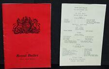 Vintage Programme of The Royal Ballet-Theatre Royal Brighton-1973-Saddlers Wells