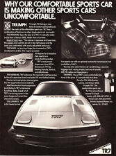 """1978 Triumph TR-7 Coupe photo """"A New Level of Comfort"""" vintage promo print ad"""