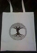 Árbol de la vida espiritual Natural Eco Friendly Vinilo Tote 100% Algodón, Bolsa De Compras