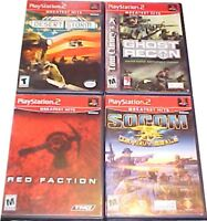 Original Playstation 2 PS2 Game lot Socom Ghost Recon Red Faction Desert Storm