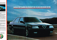 PUBLICITE ADVERTISING  1990   ALFA ROMEO 164  ( 2 pages)