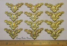 """(Lot of 12) 2-1/4"""" Across - Stamped Brass Corners - Unfinished Brass"""