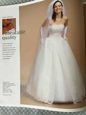 PRE-OWNED VERY GORGEOUS OLEG CASSINI BRIDAL GOWN SIZE 2 RETAIL $799