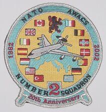 Luftwaffe Aufnäher Patch 20 Jahre NATO AWACS Number 2 .........A2581K