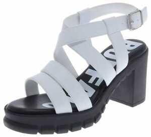 Buffal RAGAN Damen Sandale Offene Schuhe Weiss