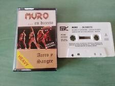 MURO EN DIRECTO ACERO Y SANGRE 1990 HEAVY METAL - CINTA TAPE CASSETTE - AG