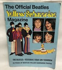 ORIGINAL 1968 BEATLES YELLOW SUBMARINE MAGAZINE PSYCHEDELIC POP ART POSTER