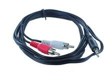 6 ft 6 feet Aux Audio 3.5mm Stereo Male to 2 RCA Y CABLE FOR IPOD/MP3