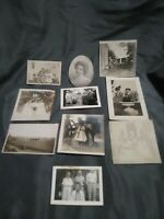 Lot Of 10 Vintage Antique Photographs Assorted photographs in great shape