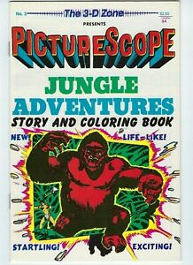 3-D Zone #3 Jungle Adventures 1987 9.0 VF/NM  Jay Disbrow   Bondage of course!