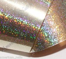 Nail Art Foils ongles Foil Champagne Micro paillette 150 cm x 2,5 cm