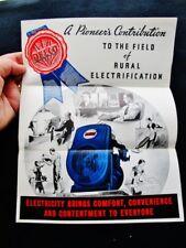 1935 DELCO LIGHT PLANT  Farm & Rural Home Electric Model 8XB3 GENERATOR PAMPHLET