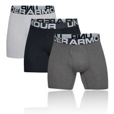 Under Armour Mens Charged Cotton 6IN Boxerjock - Black Grey White Sports Running