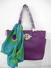IMAN Global Chic Rock the Runway Luxury Hand Bag with Printed Scarf
