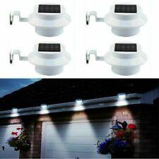 1-4x LED Solar Powered Light Outdoor Garden Security Wall Fence Gutter Yard Lamp