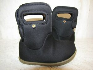 BABY BOGS INFANT GIRLS CUTE ADORABLE COZY BLACK WINTER BOOTIES INFANT SIZE 6