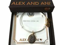 Alex and Ani Guardian III Bangle Bracelet Two Tone Rafaelian Silver NWTBC