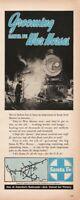 1943 Santa Fe Railroad Train WWII Grooming War Horses Locomotive Route Map Ad
