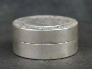"3"" Chinese Miao Silver Phoenix Minguo 8Year Yuan Shikai Head Ink Cartridge Box"
