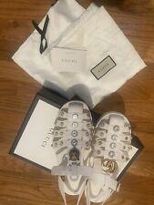 Authentic 100% Gucci Rubber Jelly Sandals Size 41 US Size 11 Cream color