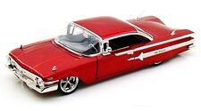 JADA DUB CITY 1960 CHEVY IMPALA RED 1/24 DIECAST CAR NEW WITHOUT BOX