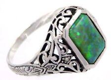 Anelli di lusso verde di pietra principale opale opale