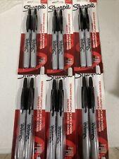 Sharpie 32701 Retractable Permanent Markers Fine Point Black 12 Count