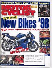 Motorcyclist Magazine December 1997- BMW R1200C, Saxon Radika