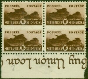 South Africa 1942 1s Brown SG104 Fine MNH Block of 4