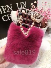 Galaxy S9/S9Plus Luxury Girl's hairy Rabbit fur Bling Crystal Diamond Case Cover