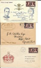 GB Stamps Coronation 1937 KG VI Five First Day covers