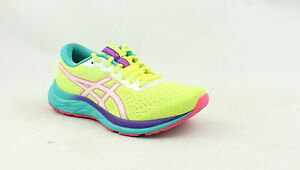 ASICS Womens Gel-Excite 7 Safety Yellow/White Running Shoes Size 7.5 (1353842)