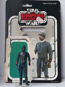 Vintage star wars black bespin guard complete mint + 45bk punched card