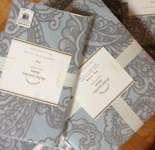 Pottery Barn Skylar Duvet Cover Set Blue Queen 2 Standard Shams Paisley Skyler