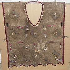 Ethnic Hunter Vest Jacket Amulets Textile African Dogon INDIGO Mud Cloth Beads