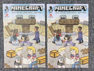 Minecraft SDCC 2018 Ashcan Dark Horse Comics NM RARE LOT of 2