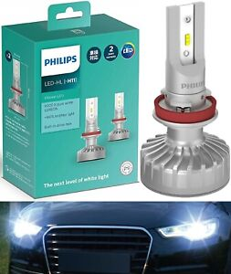 Philips Ultinon LED Kit White H11 Two Bulb Head Light Low Beam Replacement Fit