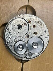 Waltham Vanguard 23 Jewels 18s pocket watch movement parts for restoration 1901