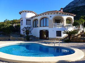 VERMIETUNG Ferienhaus Villa Spanien Costa Blanca Denia priv.Pool 4 P.
