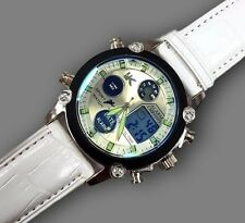Orologio Polso YK D27 Uomo Analogico Digitale Cronografo Data Sveglia Bianco lac