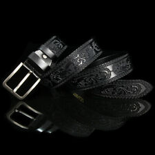 Cow Genuine Leather Men Belt Classic Retro Pin Buckle Strap For Jeans Waistband