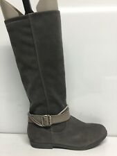Blowfish Womens Tall Suede Buckle Boots, Grey, Size 6…