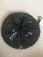 Atmosphere ladies black sequin beret brand new with tag. One size