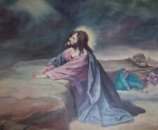 """perfact 36x24 oil painting handpainted on canvas""""Christ praying """" NO5047"""
