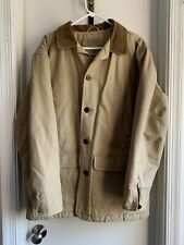 LL BEAN Mens Barn Coat Corduroy Jacket Tan Quilted Liner Thinsulate Size Medium